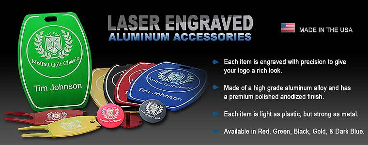 Aluminum Engraved Golf Accessories